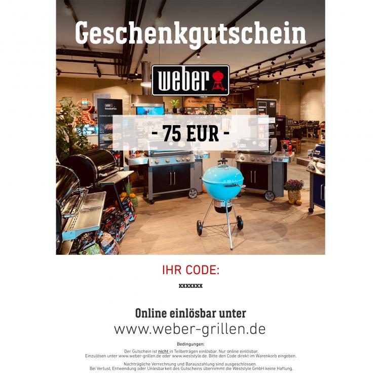 Weber Geschenkgutschein 75 EUR