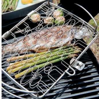Weber Fisch und Gemüsehalter groß, Edelstahl
