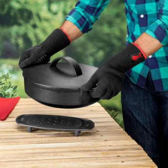 Weber Grillhandschuh-Set aus Kevlarmischgewebe (L/XL)